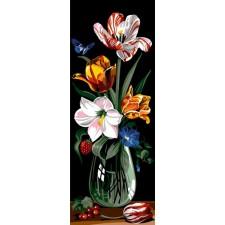 Glas met bloemen - Verre et couleur