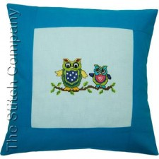 Pillow 40 x 40cm Lt.blue/Turquoise Counted X-Stitch