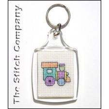 Plexiglas sleutelhanger rechthoek zonder stof en patroon