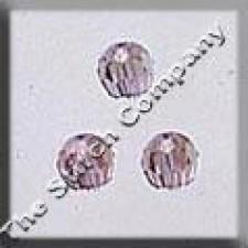 Crystal Treasures Round Bead- Light Amethyst A B