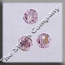 Crystal Treasures Round Bead- Light Rose A B