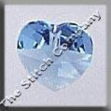 Crystal Treasures Small Heart- Aquamarine