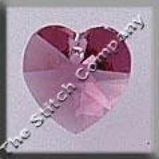 Crystal Treasures Small Heart- Rose