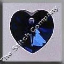 Crystal Treasures Small Heart- Bermuda Blue