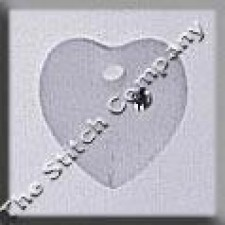 Crystal Treasures Small Frosted Heart- Crystal