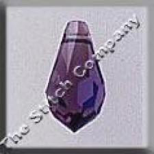 Crystal Treasures Very Small Tear Drop- Amethyst A B