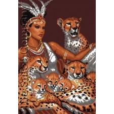 A Girl And Cheetahs