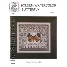 Golden Watercolor Butterfly