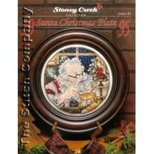 Santa Christmas Plate 1995