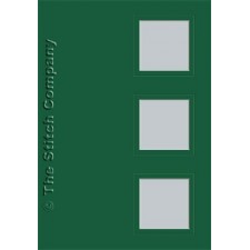 3 cards with envelope, dark green