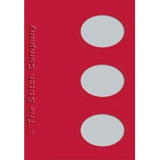 3 cards with envelope, red
