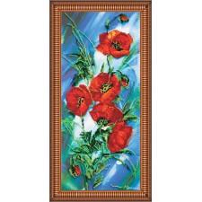 Bead Embroidery kit Poppy Dawn - Abris Art