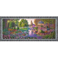 Bead Embroidery kit By the Pond - Abris Art