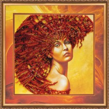 Bead Embroidery kit The Four Elements – Fire - Abris Art