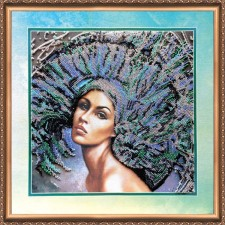 Bead Embroidery kit The Four Elements – Air - Abris Art
