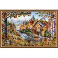 Bead Embroidery kit Water-Mill - Abris Art