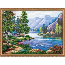 Bead Embroidery kit Mountain Morning - Abris Art