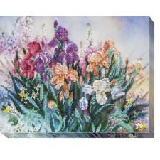 Bead Embroidery kit Morning Garden - Abris Art