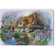 Bead Embroidery kit House at the Lake - Abris Art
