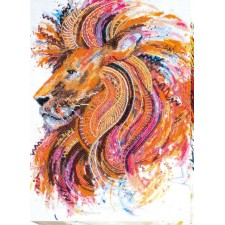 Bead Embroidery kit Fire-Maned Lion - Abris Art