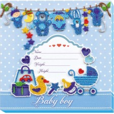 Bead Embroidery kit Metric for a Boy - Abris Art