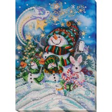 Bead Embroidery kit New Year's Night - Abris Art