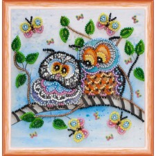 Bead Embroidery kit Owl Duet