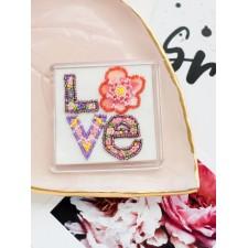 Bead Embroidery kit Declaration of Love - Abris Art