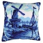Delfts blauw kussen - Delftware