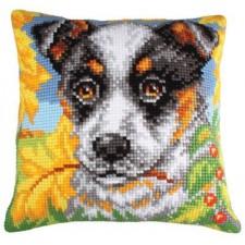 Hond tussen herfstbladeren - Dog and Autumn Leaves