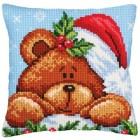 Kussenpakket Kerstbeertje - Christmas with a Teddy Bear