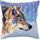 Kussenborduurpakket Wolf - Winter animals