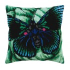 Cushion cross stitch kit Butterfly - Collection d'Art