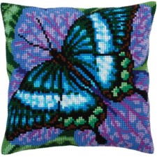 Kussenborduurpakket Turquoise Vlinder - Volatic turquoise