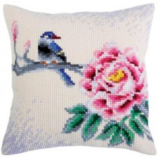 Kussenpakket Vogel met Bloem -Flower and Bird