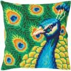 Kussenborduurpakket Fiere Pauw - Proud peacock