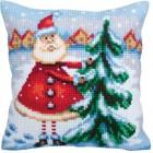 Kussenborduurpakket Santa uit Lapland - Santa from Lapland