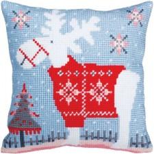 Kussenborduurpakket Kersthert - Christmas deer