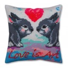 Kussenborduurpakket Liefde is Kunst - Love is Art - Collection d'Art