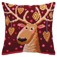 Cushion cross stitch kit Christmas Gingerbreads - Collection d'Art