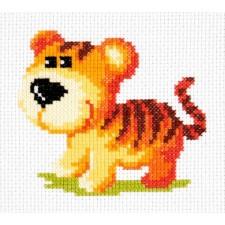 Borduurpakket Tijgerjong -Tiger cub