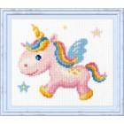 Borduurpakket Regenboog Eenhoorn - Rainbow Unicorn