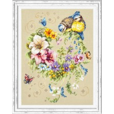 Cross stitch kit Melody of Your Heart
