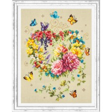 Cross stitch kit Tenderness of Your Heart - Chudo Igla