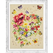 Cross stitch kit Shine of Your Heart