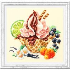 Borduurpakket Vanillaijs - Vanilla Ice Cream - Chudo Igla