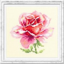 Borduurpakket Roze Roos - Pink Rose