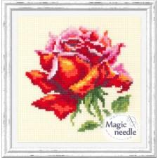 Borduurpakket Rode Roos - Red Rose