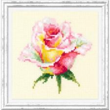 Borduurpakket Bloeiende Roos - Blooming Rose