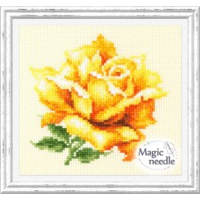 Borduurpakket Gele Roos - Yellow Rose